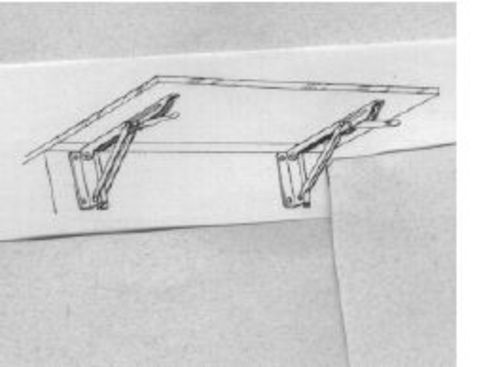 wall steel bracket folding stainless shelf mount white tools