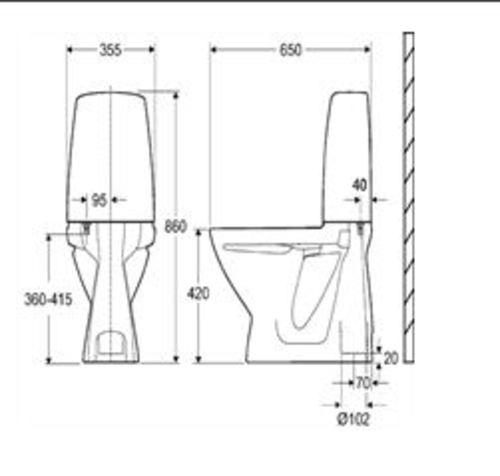 Taille Toilette Handicap. Cheap Dimension Standard Porte D