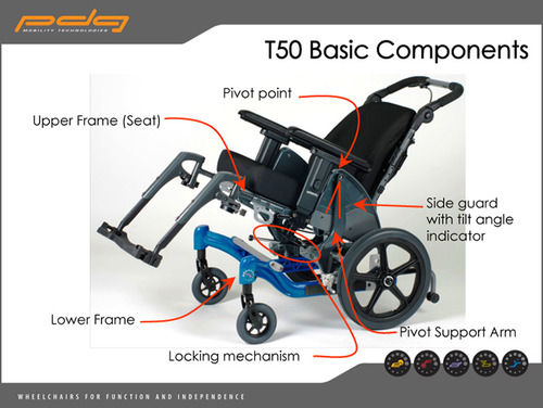 fuze t50 manual tilt wheelchair