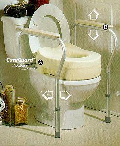 Toilet safety frame.
