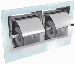 Recessed Toilet Roll Holder.