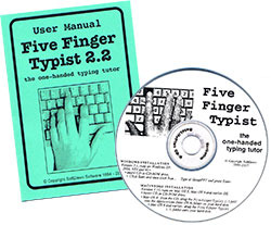 Set up for 5 finger typist