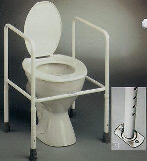 Toilet frame on toilet