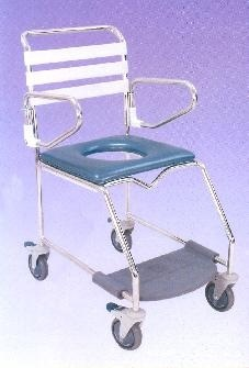 K-Care Weight Bearing Footrest Mobile Shower Commode  KA113S