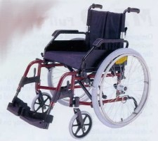 Merits Manual Wheelchair L125 Model - folding backrest