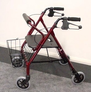 PR16807 AusCare Small Walker With Moulded Hand Brakes