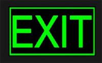 PR12457 Visionglow Glow in the Dark Evacuation Signs