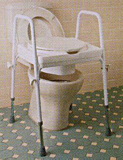 PR04293 Ashby Raised Toilet Seat on Frame