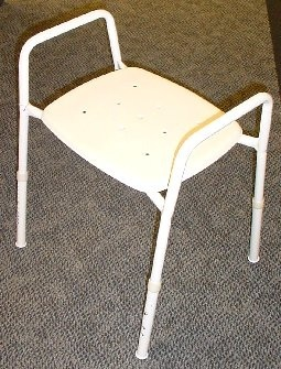 K-Care Extra Wide Shower Stool With Arms