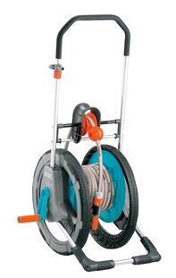PR16385 Gardena Mobile Hose Reel Trolley With Hose