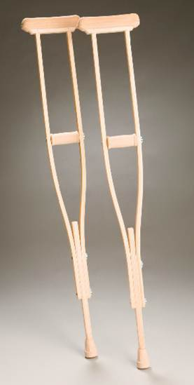 PR00782 Wooden Axilla Crutches
