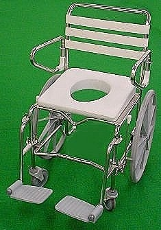 K-Care Maxi Extra Wide Shower Commode - Self Propelled