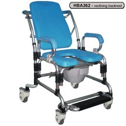 Freedom Healthcare Aluminium Mobile Commode