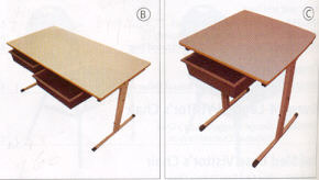 Adjustable Double Desk