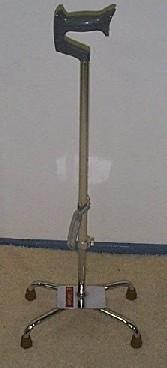 Adjustable Quad Stick with Offset Base