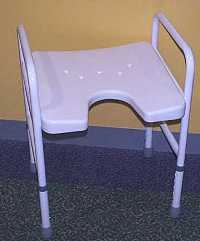 PR13702 Auscare Shower Stool with Cut Out