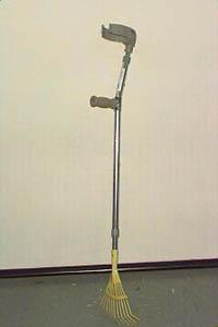 Adapted Gutter Crutch Gardening Tool