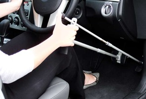 Hand Controls in use