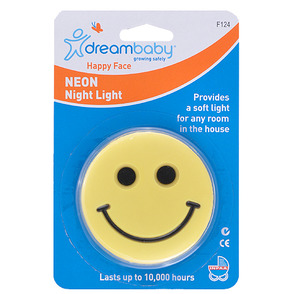 Dreambaby Happy Face Neon Night Light