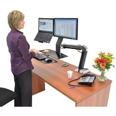 Ergotron Workfit-A LCD & Laptop with Worksurface