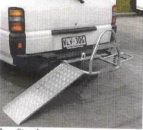 Summit wheelchair carrier with ramp attached