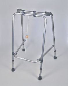 Folding Adjustable Walking Frame with Ball (Large)