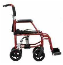 PR18038a Redgum Hematite Lightweight Transit Wheelchair