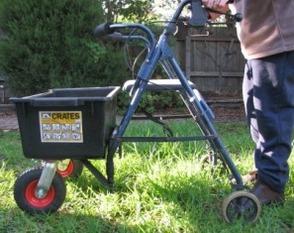 Walker with wheelbarrow crate - TAD VIC