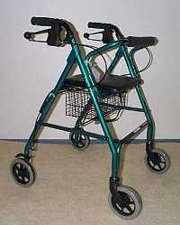 A Frame Walker with Hand Brakes