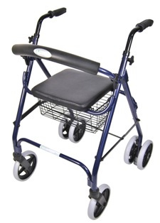 A-Frame Rollator With Push Down Brakes
