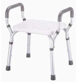 PR18090 Redgum Aluminium Shower Stool