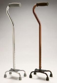 PR02012 Highgate Healthcare Quad Sticks - low profile bases