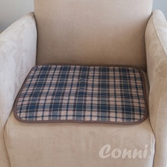 Conni Small Chair Pad - tartan