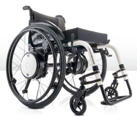 Alber Twion M24 - attached to wheelchair frame