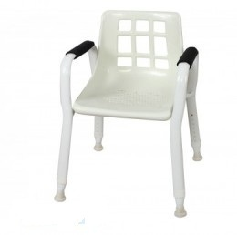 Freedom Healthcare Shower Chair Aluminium with Oval Tube