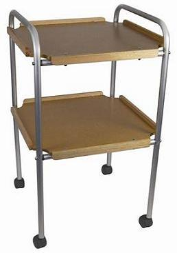 Kitchen Trolley with Wooden Trays