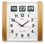 Woodgrain Finish Calendar Clock