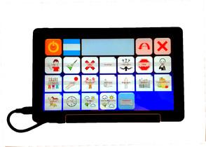 GazeSpeaker on a Windows tablet