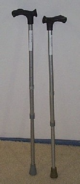 PR02481 Fischer Handle Aluminium Walking Sticks