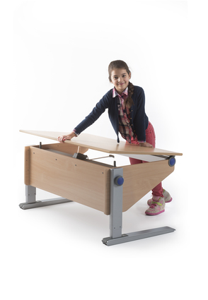 Moll Winner desk with desktop tilted