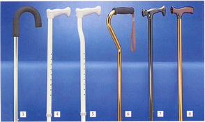 Aluminium Height Adjustable Walking Sticks