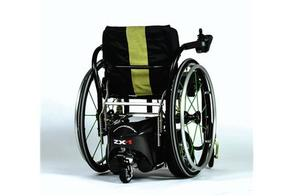 fitted to a wheelchair