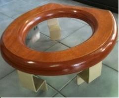 HenryCare Toilet Seat Raiser-Half deflect-75mm