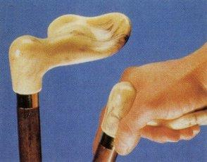 PR09666 Coopers Contoured Handle Walking Stick