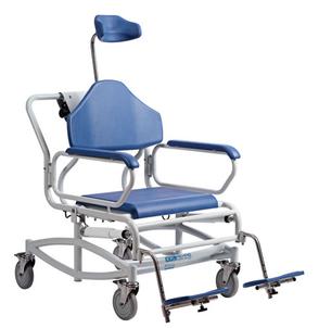 XXL Rehab Shower Commode Tilt with standard footrests