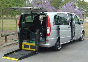 Mercedes Benz Vito with rear lift