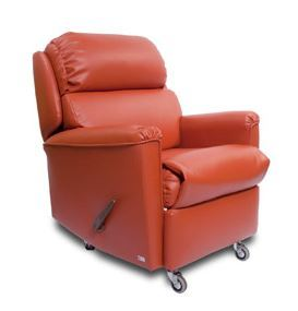 Gregory Ruby Recliner Chair - shown here with manual lever