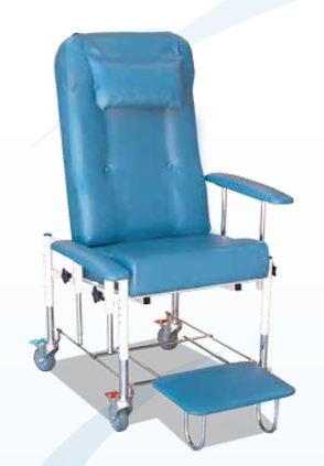 Medi-Todd chair - shown with drop down, height-adjustable armrests and slide-out footrest