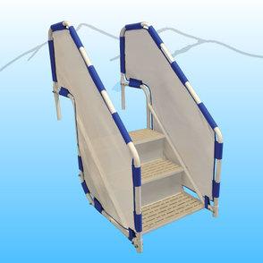 Aqua Creek Pool Access Steps - 3 step model