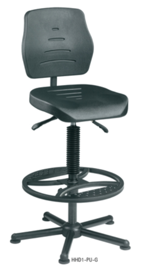 Flexliner heavy duty chair - XXL high rise model with footring